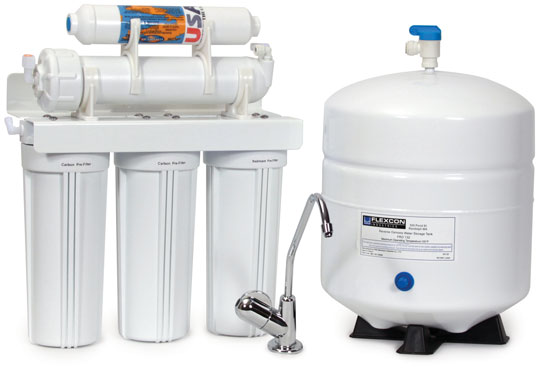 An Undercounter reverse osmosis system supplied by The Dex Lab